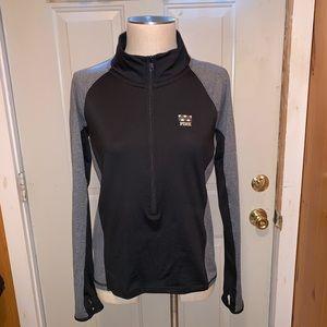 Black and Grey Pink Ultimate Half zip Pullover